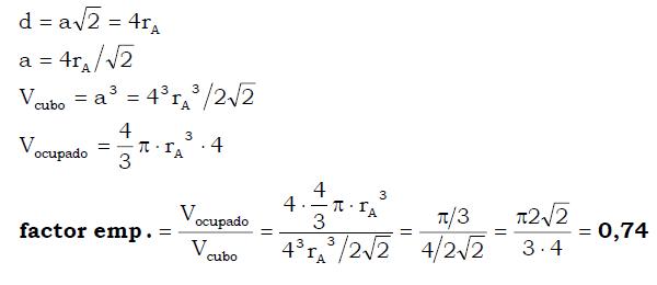 Estructura Cúbica Centrada En Las Caras Fcc Tareas